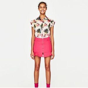Zara Fuchsia Pink Skirt
